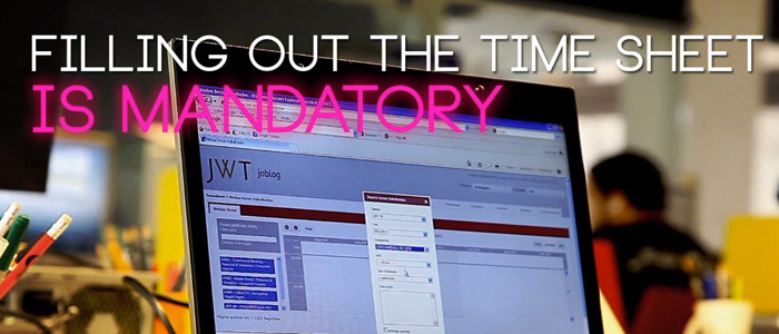 JWT: Filling out the time sheet is mandatory | Hyper Island